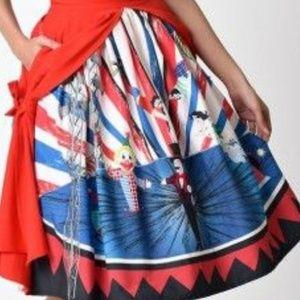 Unique vintage circus skirt